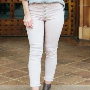 Hudson Barbara Blush High-Rise Ankle Skinny Jean